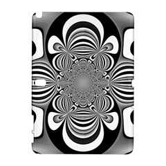 Black And White Ornamental Flower Samsung Galaxy Note 10 1 (p600) Hardshell Case by designworld65