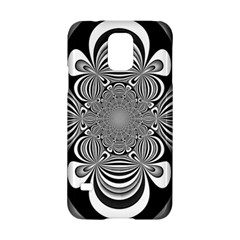 Black And White Ornamental Flower Samsung Galaxy S5 Hardshell Case  by designworld65