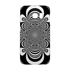 Black And White Ornamental Flower Galaxy S6 Edge by designworld65