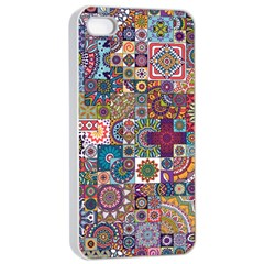 Ornamental Mosaic Background Apple Iphone 4/4s Seamless Case (white) by TastefulDesigns