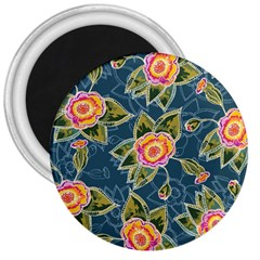 Floral Fantsy Pattern 3  Magnets by DanaeStudio