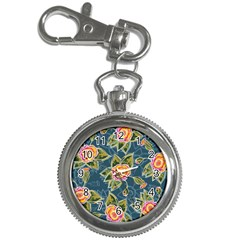 Floral Fantsy Pattern Key Chain Watches by DanaeStudio