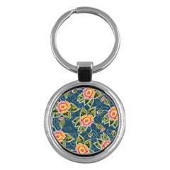 Floral Fantsy Pattern Key Chains (round)  by DanaeStudio