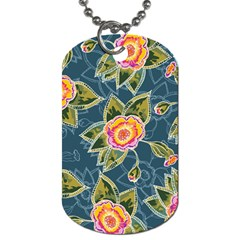 Floral Fantsy Pattern Dog Tag (two Sides) by DanaeStudio