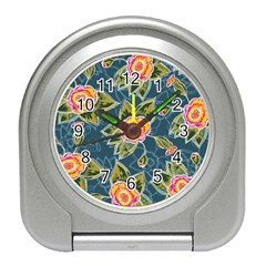 Floral Fantsy Pattern Travel Alarm Clocks by DanaeStudio