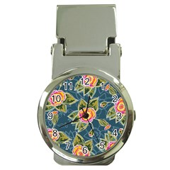 Floral Fantsy Pattern Money Clip Watches by DanaeStudio