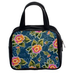 Floral Fantsy Pattern Classic Handbags (2 Sides) by DanaeStudio