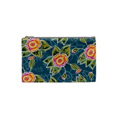 Floral Fantsy Pattern Cosmetic Bag (small)  by DanaeStudio