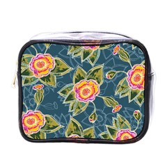 Floral Fantsy Pattern Mini Toiletries Bags by DanaeStudio