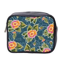 Floral Fantsy Pattern Mini Toiletries Bag 2 Side by DanaeStudio