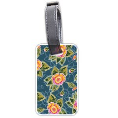 Floral Fantsy Pattern Luggage Tags (two Sides) by DanaeStudio