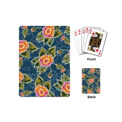 Floral Fantsy Pattern Playing Cards (mini)  by DanaeStudio