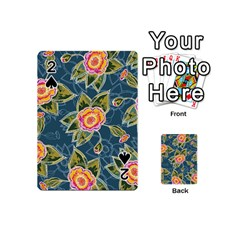 Floral Fantsy Pattern Playing Cards 54 (mini)  by DanaeStudio