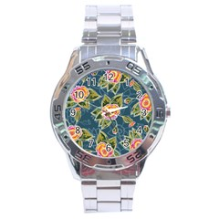 Floral Fantsy Pattern Stainless Steel Analogue Watch by DanaeStudio