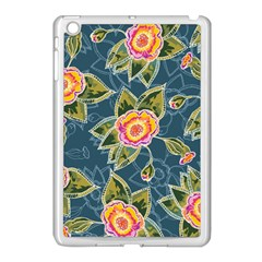 Floral Fantsy Pattern Apple Ipad Mini Case (white) by DanaeStudio