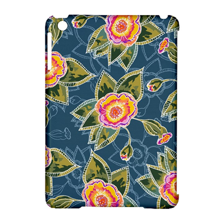 Floral Fantsy Pattern Apple iPad Mini Hardshell Case (Compatible with Smart Cover)