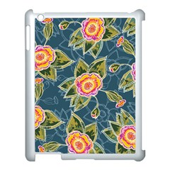 Floral Fantsy Pattern Apple Ipad 3/4 Case (white) by DanaeStudio