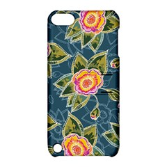 Floral Fantsy Pattern Apple Ipod Touch 5 Hardshell Case With Stand by DanaeStudio
