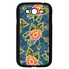 Floral Fantsy Pattern Samsung Galaxy Grand Duos I9082 Case (black)