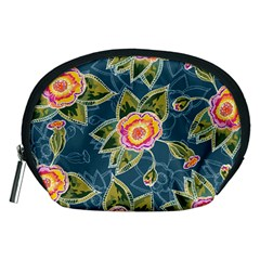 Floral Fantsy Pattern Accessory Pouches (medium)  by DanaeStudio
