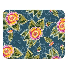 Floral Fantsy Pattern Double Sided Flano Blanket (large)  by DanaeStudio