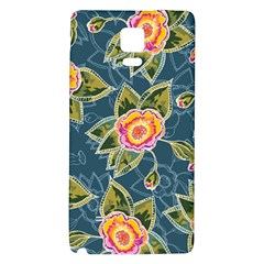 Floral Fantsy Pattern Galaxy Note 4 Back Case by DanaeStudio