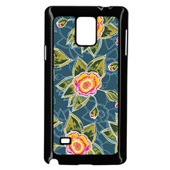 Floral Fantsy Pattern Samsung Galaxy Note 4 Case (black) by DanaeStudio