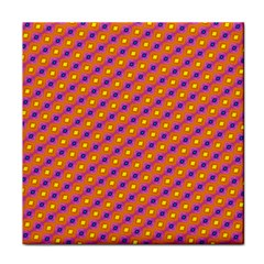 Vibrant Retro Diamond Pattern Tile Coasters by DanaeStudio