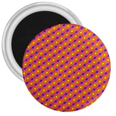 Vibrant Retro Diamond Pattern 3  Magnets by DanaeStudio