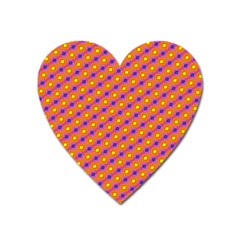 Vibrant Retro Diamond Pattern Heart Magnet by DanaeStudio