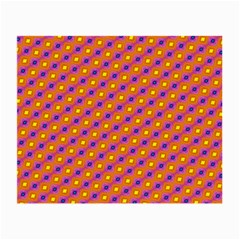 Vibrant Retro Diamond Pattern Small Glasses Cloth by DanaeStudio