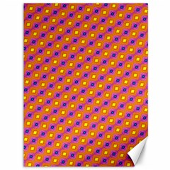 Vibrant Retro Diamond Pattern Canvas 36  X 48   by DanaeStudio