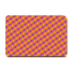 Vibrant Retro Diamond Pattern Small Doormat  by DanaeStudio