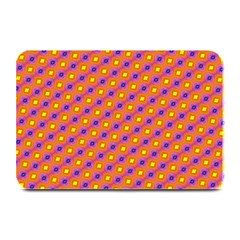 Vibrant Retro Diamond Pattern Plate Mats by DanaeStudio
