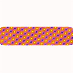 Vibrant Retro Diamond Pattern Large Bar Mats by DanaeStudio