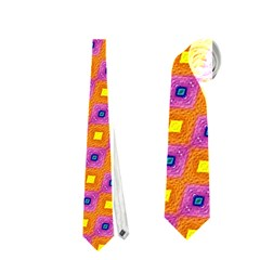 Vibrant Retro Diamond Pattern Neckties (two Side)  by DanaeStudio