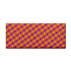 Vibrant Retro Diamond Pattern Hand Towel by DanaeStudio