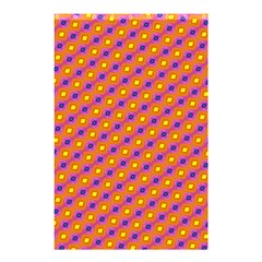 Vibrant Retro Diamond Pattern Shower Curtain 48  X 72  (small)  by DanaeStudio