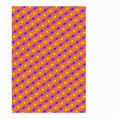 Vibrant Retro Diamond Pattern Small Garden Flag (two Sides) by DanaeStudio