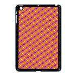Vibrant Retro Diamond Pattern Apple iPad Mini Case (Black) Front