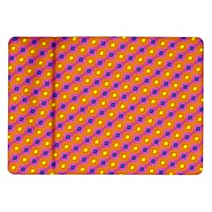 Vibrant Retro Diamond Pattern Samsung Galaxy Tab 10 1  P7500 Flip Case by DanaeStudio