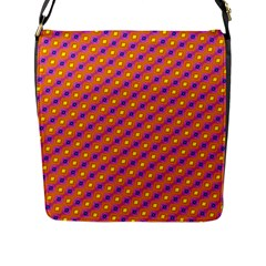 Vibrant Retro Diamond Pattern Flap Messenger Bag (l)  by DanaeStudio