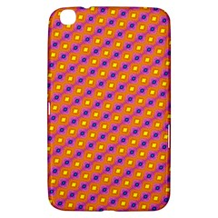 Vibrant Retro Diamond Pattern Samsung Galaxy Tab 3 (8 ) T3100 Hardshell Case  by DanaeStudio