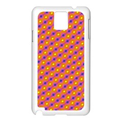 Vibrant Retro Diamond Pattern Samsung Galaxy Note 3 N9005 Case (white) by DanaeStudio