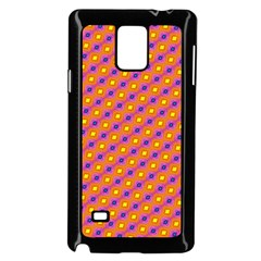 Vibrant Retro Diamond Pattern Samsung Galaxy Note 4 Case (black) by DanaeStudio