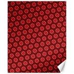 Red Passion Floral Pattern Canvas 16  x 20   20 x16 Canvas - 1