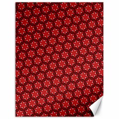 Red Passion Floral Pattern Canvas 18  X 24   by DanaeStudio