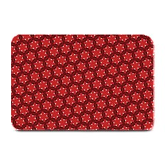 Red Passion Floral Pattern Plate Mats by DanaeStudio