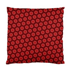 Red Passion Floral Pattern Standard Cushion Case (two Sides) by DanaeStudio
