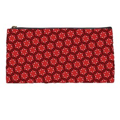 Red Passion Floral Pattern Pencil Cases by DanaeStudio